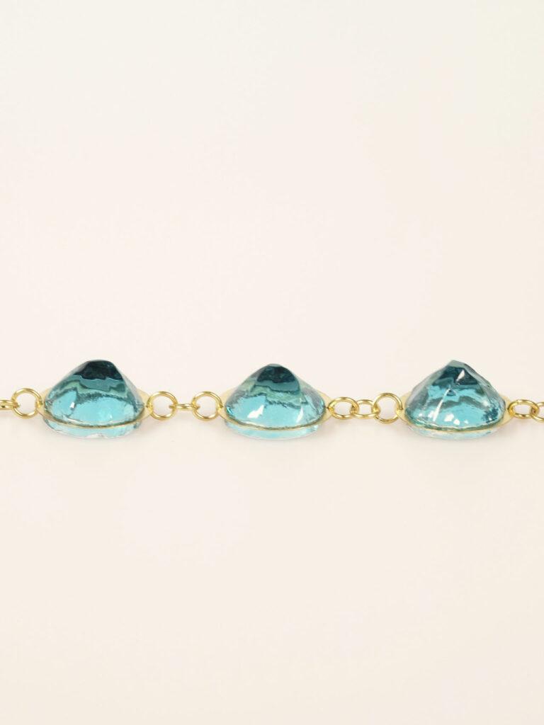 Armband, Messing, Glas