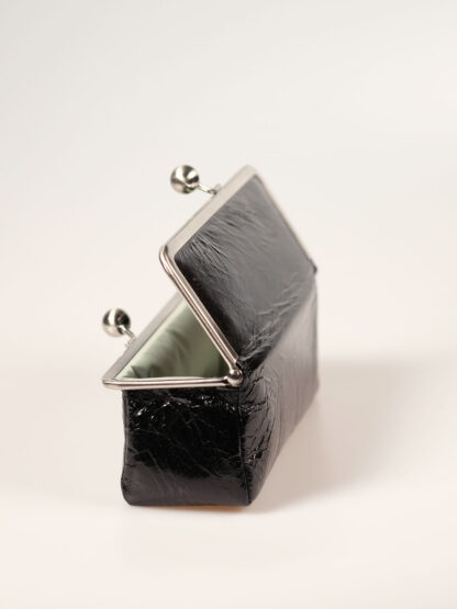 Täschchen mit 6cm breitem Boden, für Stifte, Brille, Kosmetik; Farbe schwarz