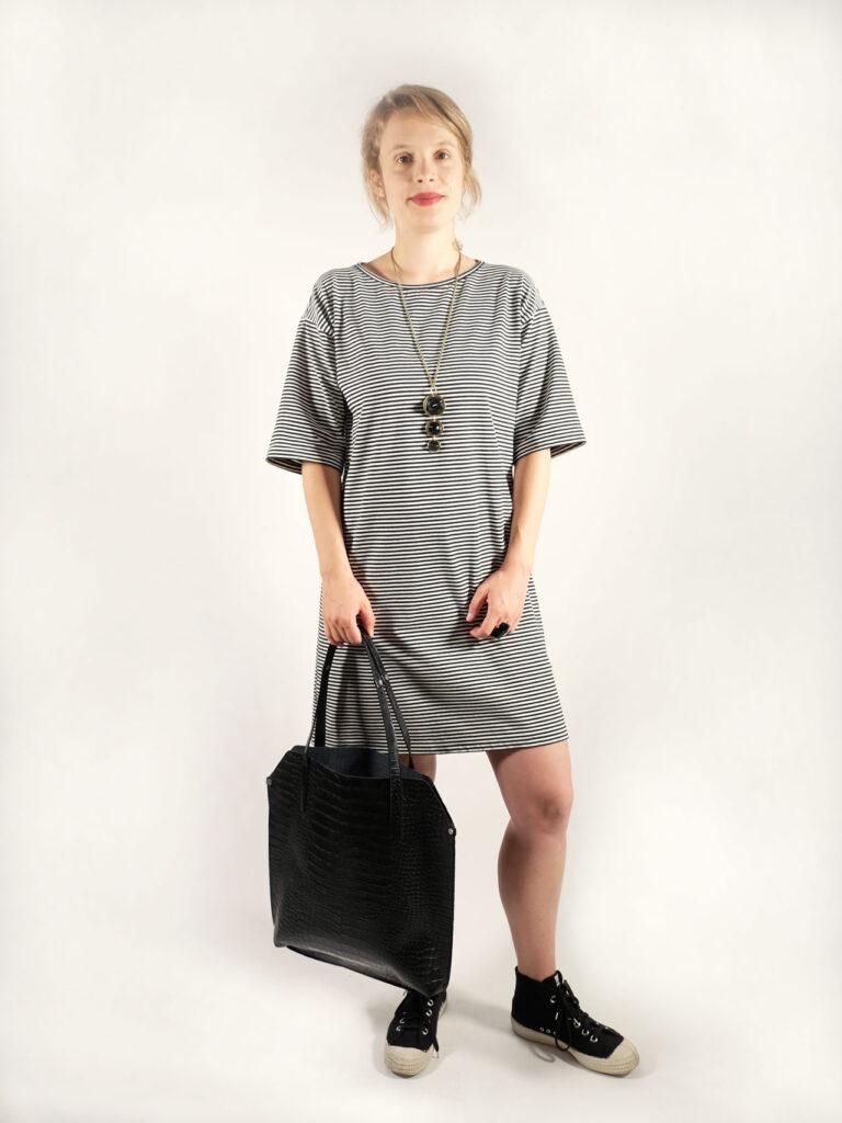 Kleid, Ringelkleid, Ringel, Baumwolle
