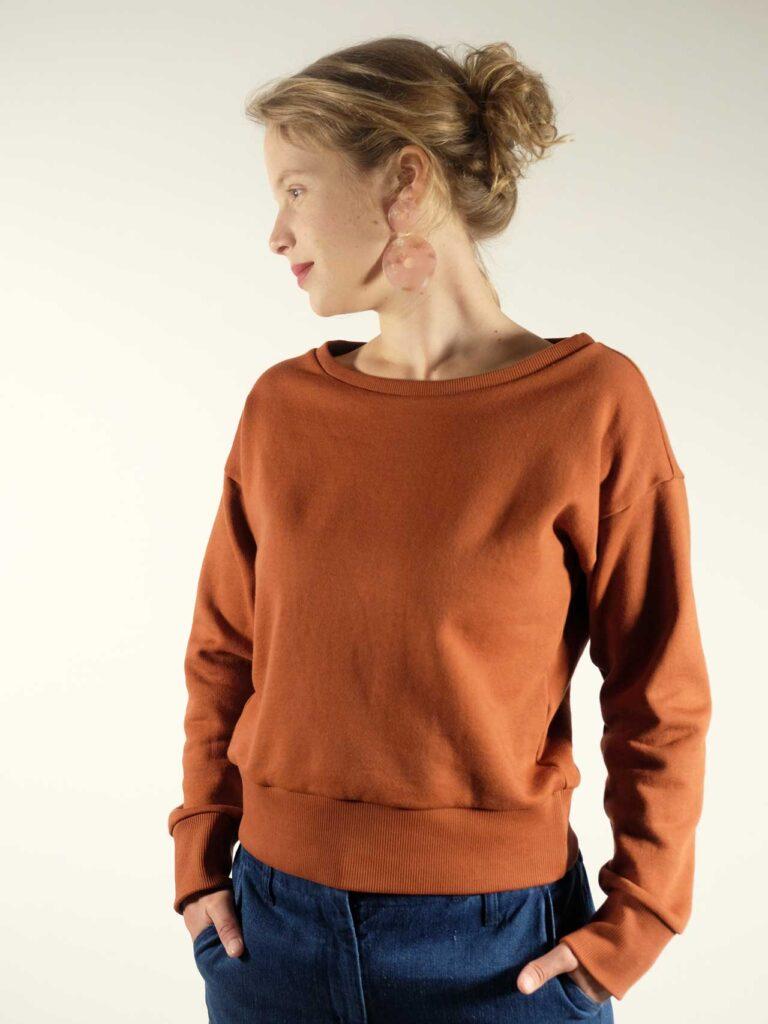 Sweatshirt, Biobaumwolle, rost