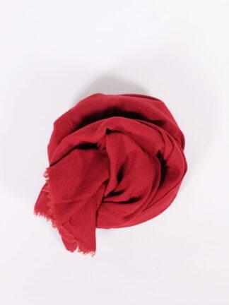 fair produzierter Wollschall von Blue Valley, rot