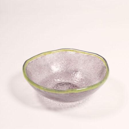 Dessertaschale, Glas, lavendel/grün
