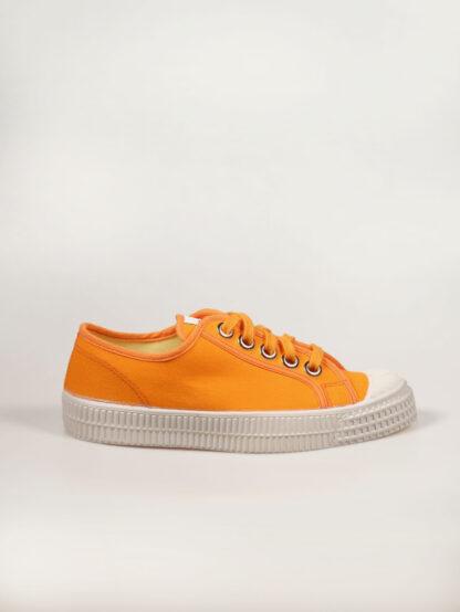 Novesta Star Master orange, flacher Segeltuch Schuh aus Baumwolle und Naturkautschuksohle