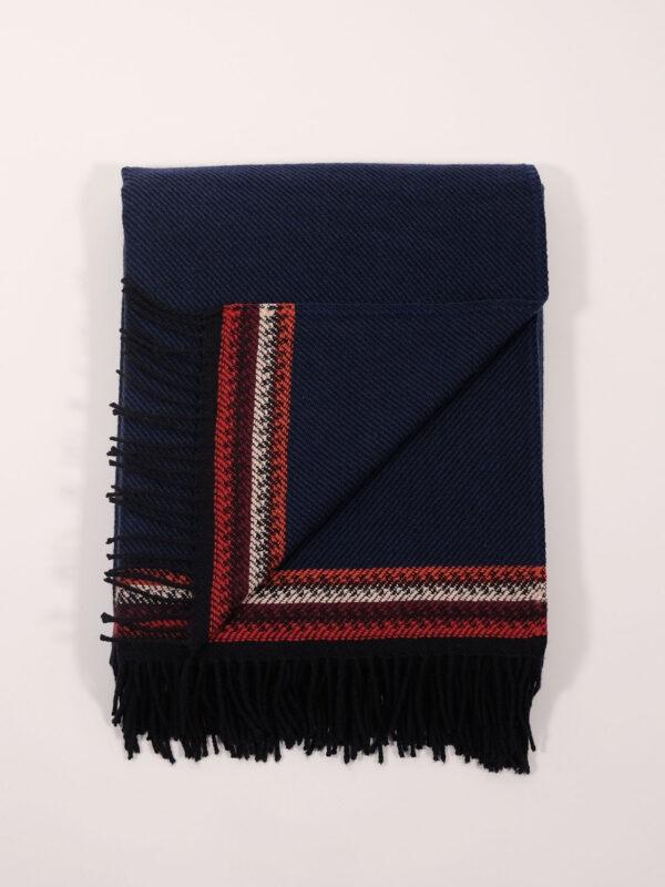 dunkelblaue Lammwolldecke