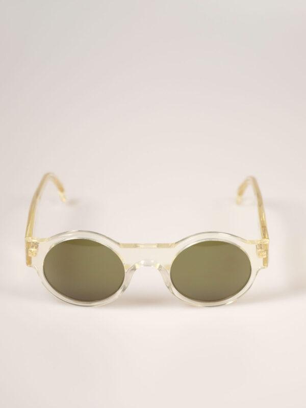 Sonnenbrille aus hochwertigem Acetat, transparent
