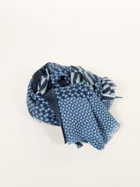 Wollschal Arpenteur blau