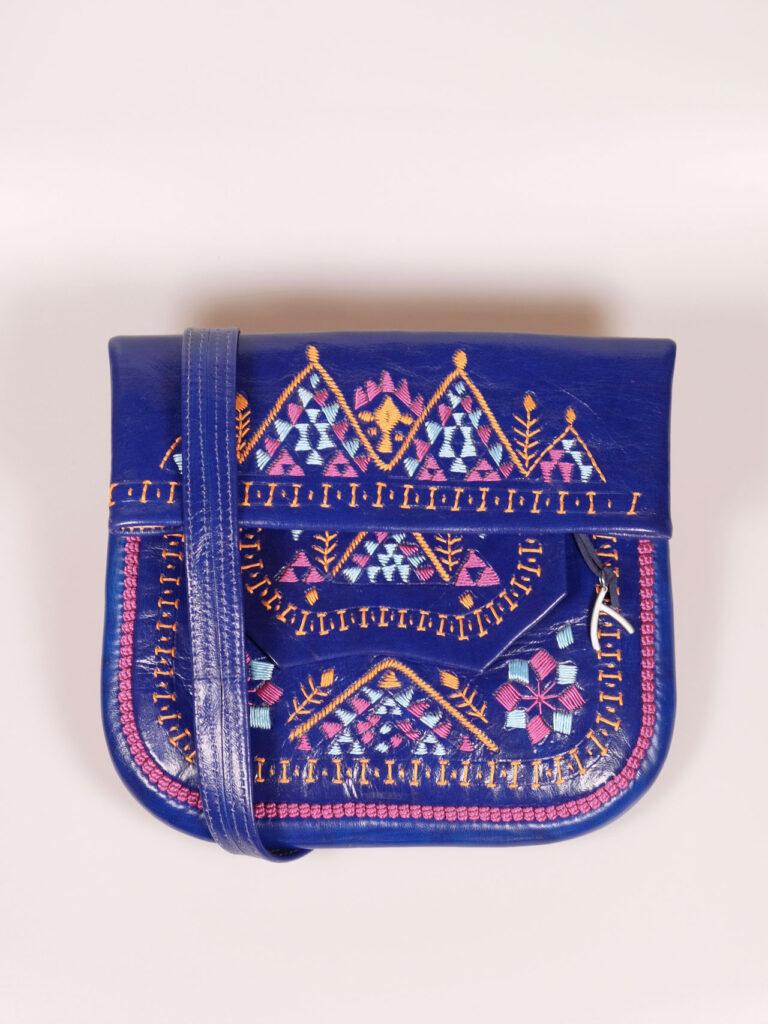 Abury Berber Bag blau, bunt bestickt