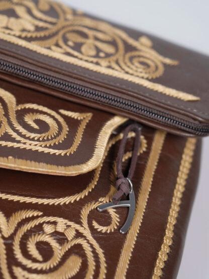 Abury Berber Bag braun, beige bestickt, Detail