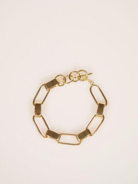 Soko capsule link bracelet gold plated