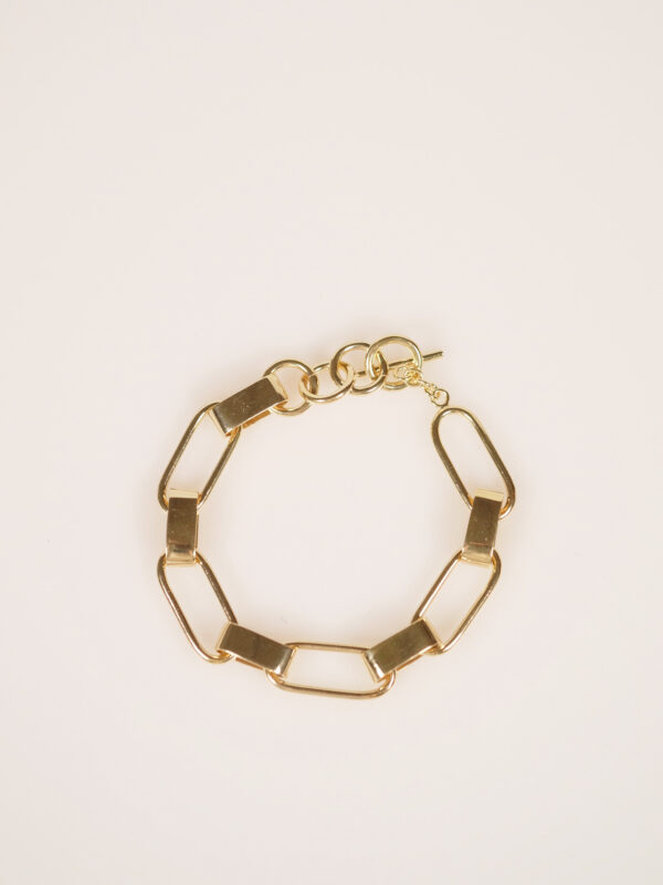 Soko capsule link bracelet gold plated