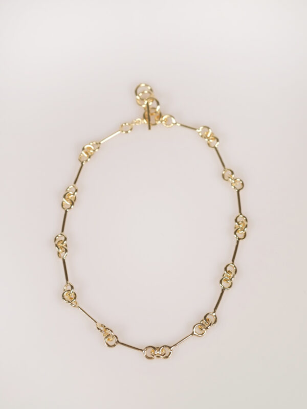 Soko Code Collar Necklace gold plated