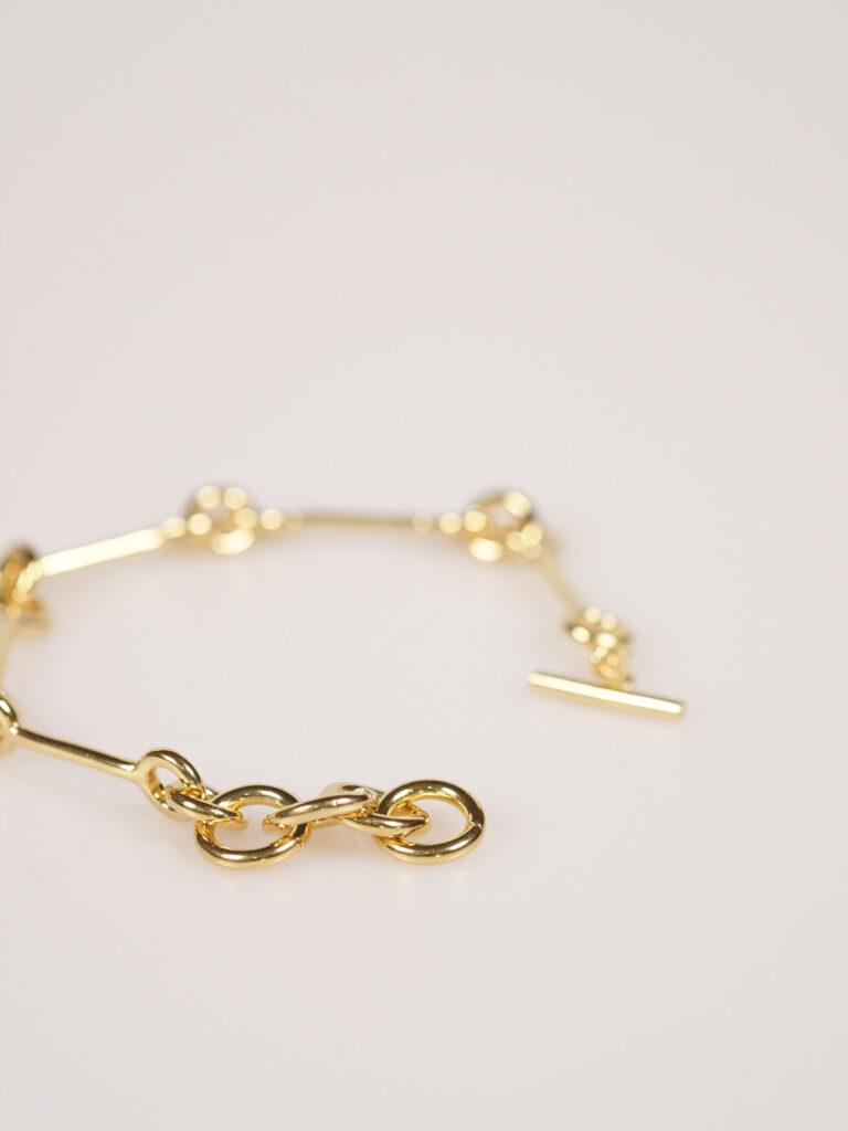 Soko Code link bracelet goldplated