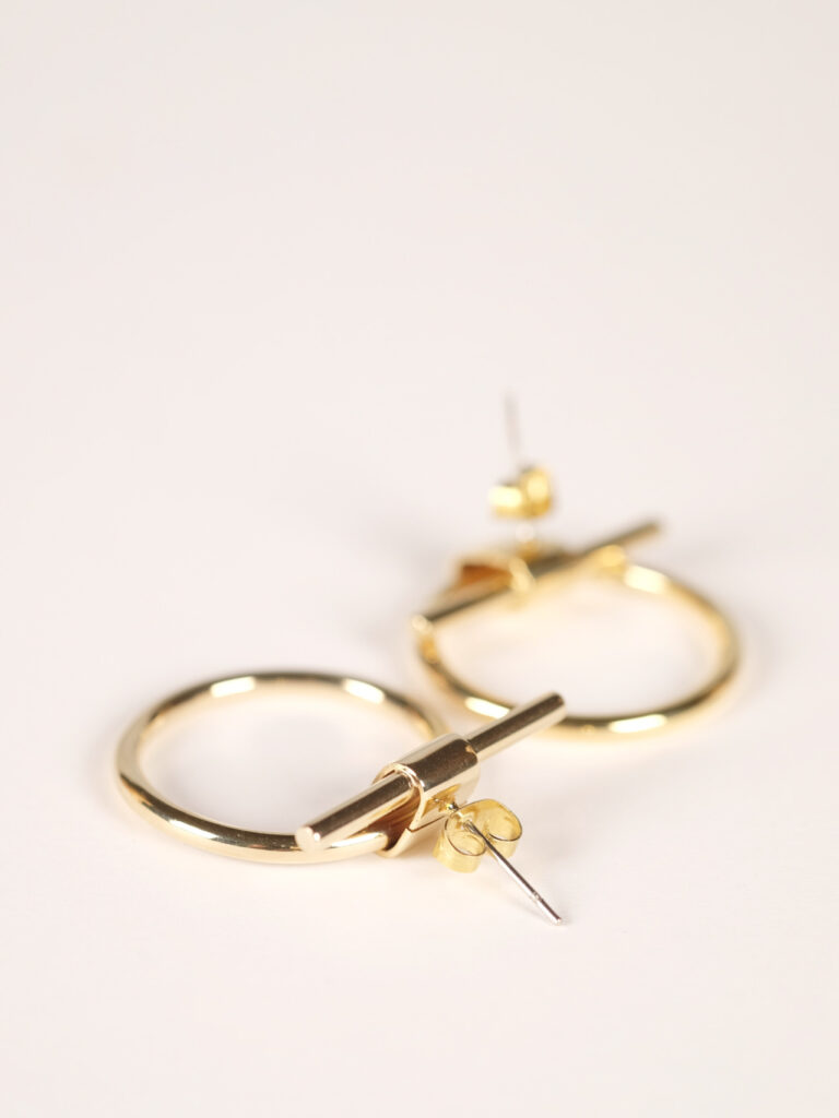 soko isle studs earrings gold plated