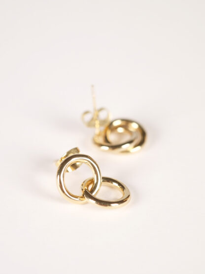 Soko Kumi mini hoop studs earrings goldplated