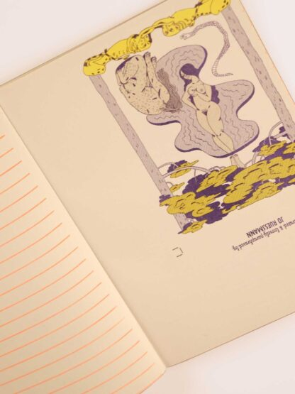 risoprint notebook with coloured pages
