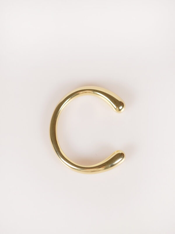 fair trade brass gold plated solid bangle