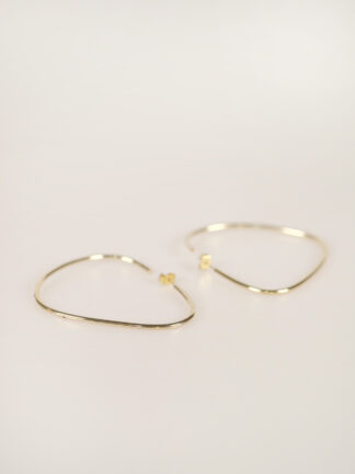 soko maxi sabi organic hoops goldplated earrings
