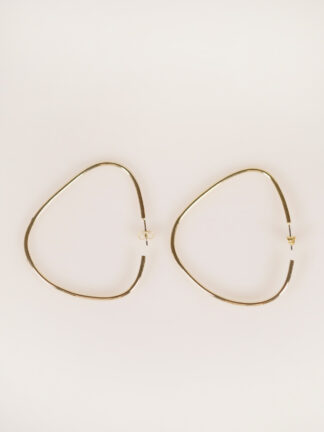 soko maxi sabi organic hoops gold plated earrings