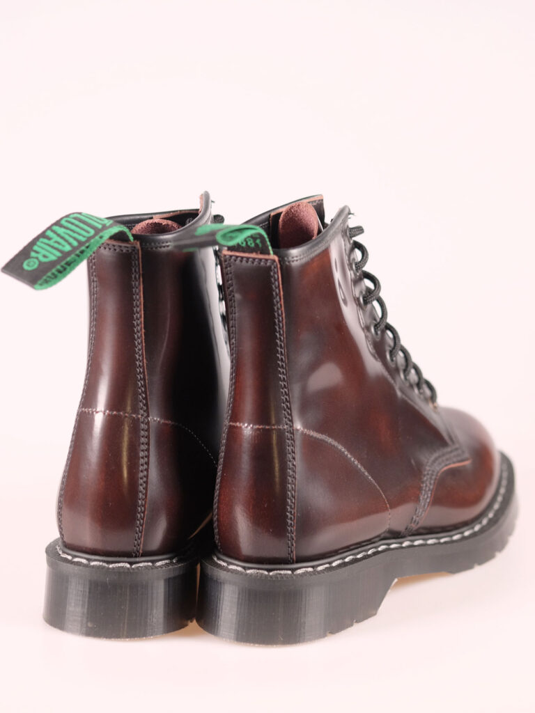solovair 8 eye derby burgundy