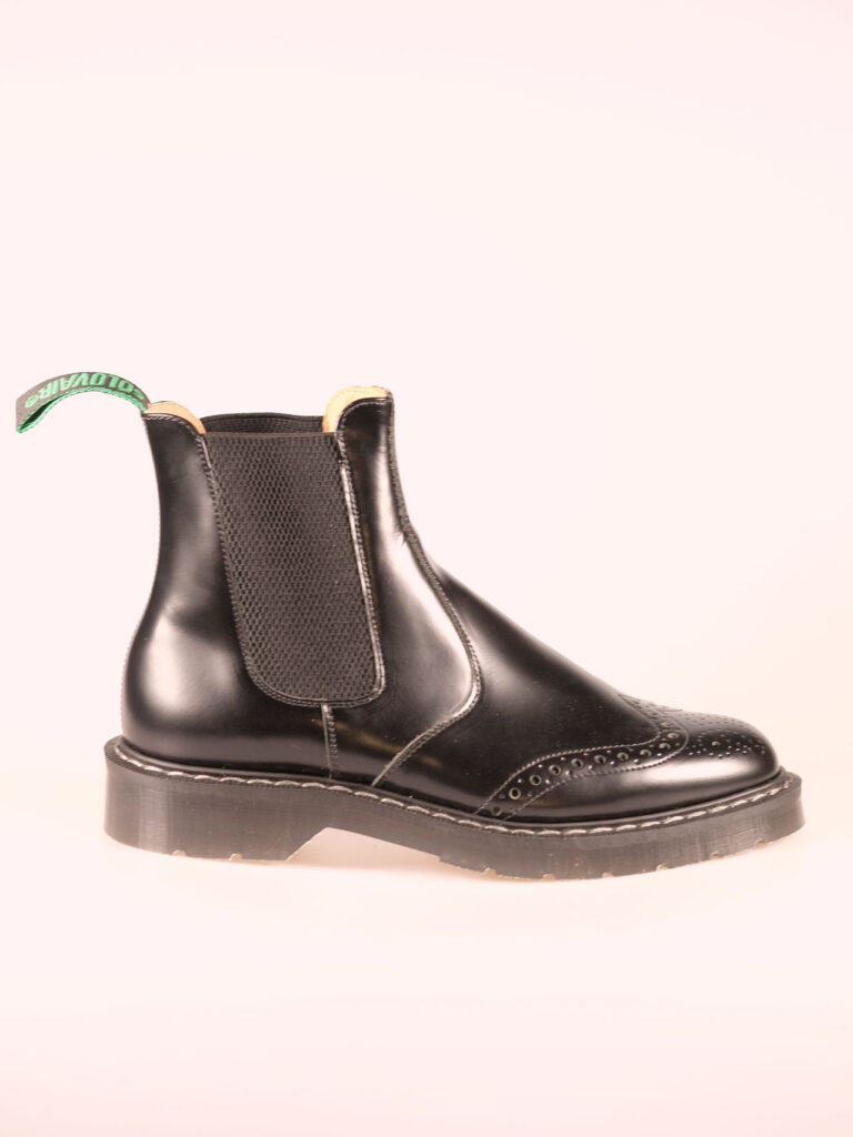 Solovair Punched dealer boot black