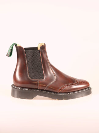 Solovair Punched Dealer Boot burgundy