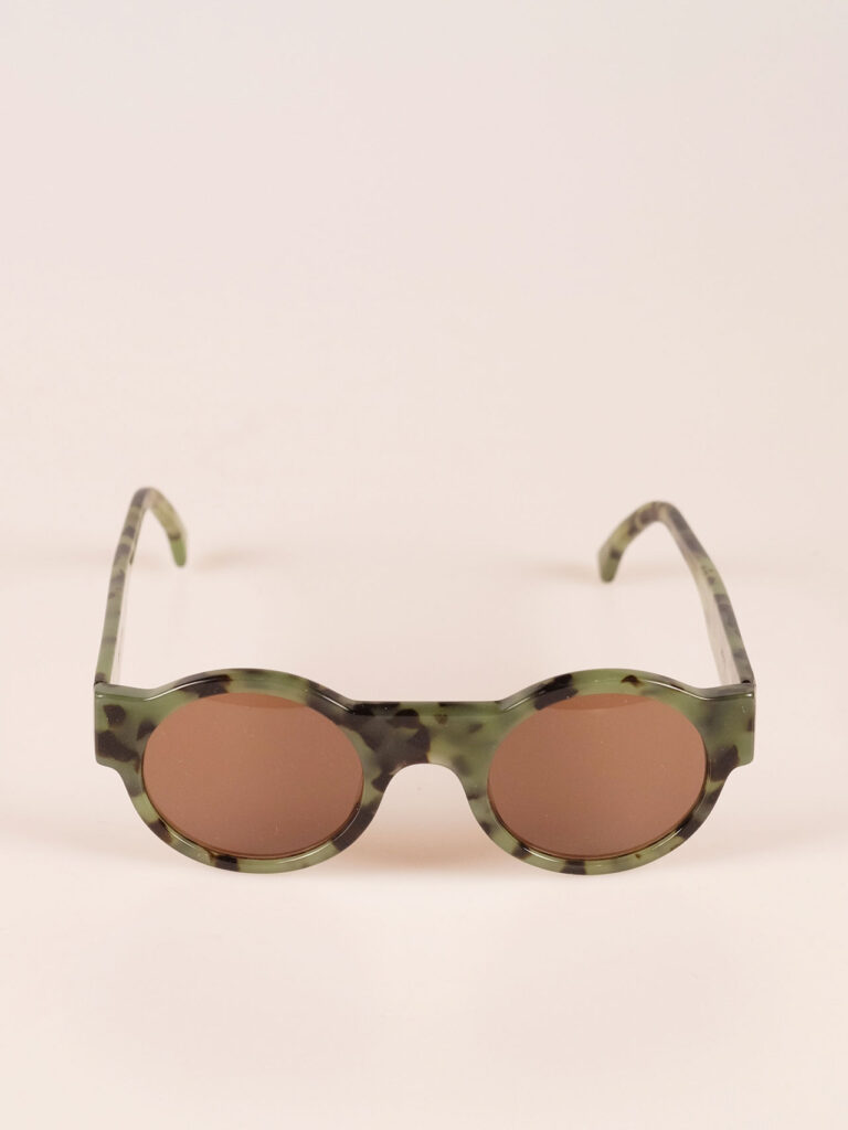 sunglasses in high quality acetate green