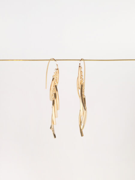 Soko Tamasha Fringe threader earring gold plated