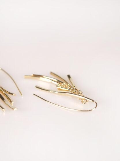 soko tamasha fringe threader earring gold plated
