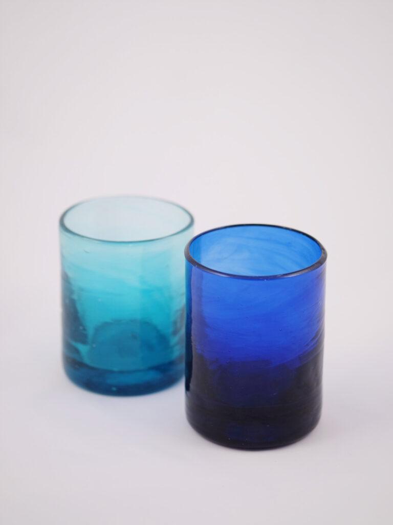 mundgeblasene Trinkgläser inspiriert vom 50 er Jahre Design in Murano