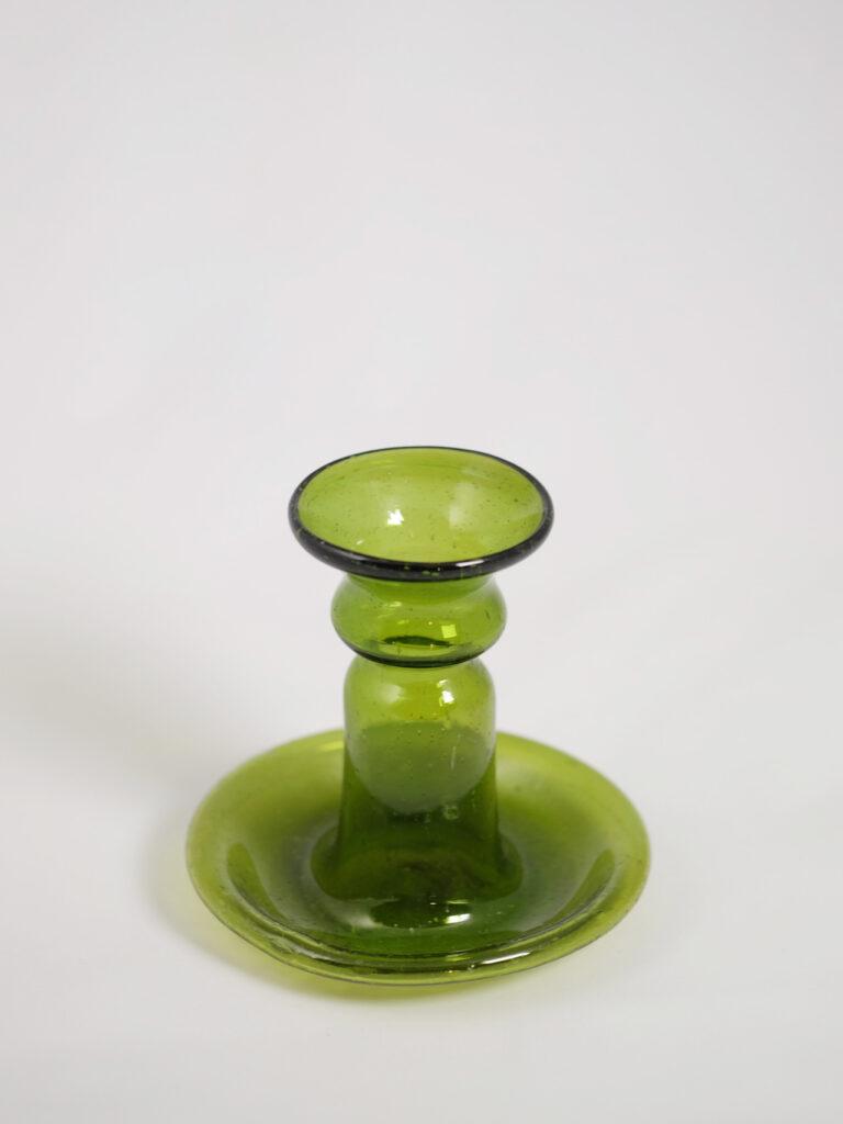 mundgeblasener kleiner Kerzenhalter, grün