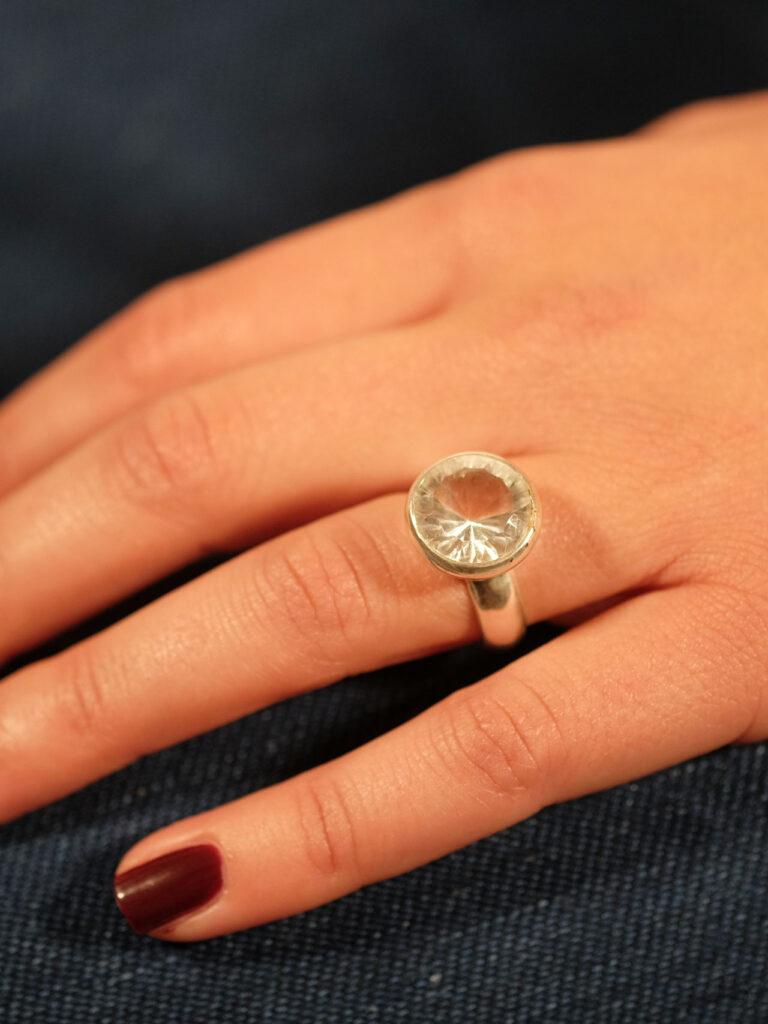 Ring Sterlingsilber mit Bergkristall