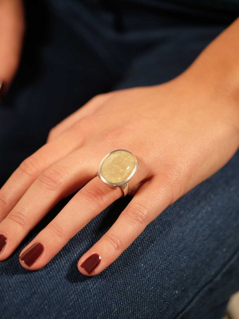 Ring Sterlingsilber mit Rutilquarz