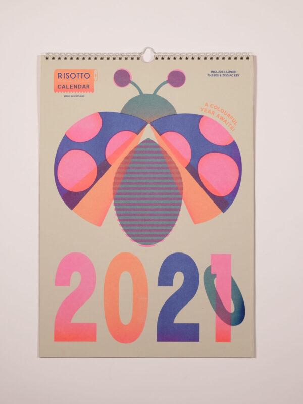 Farbenfroher Risographiekalender A3