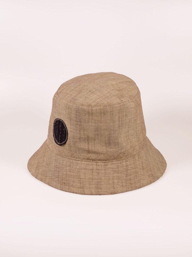 leichter Bucket Hat aus japanischer Aizu Baumwolle beige